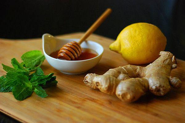 мёд с лимоном и имбирем